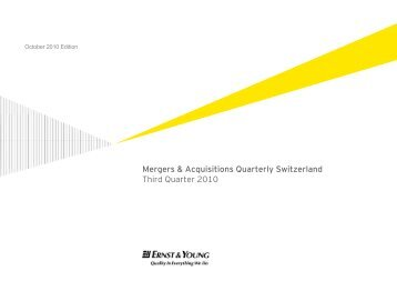 Third Quarter 2010 - Home - Ernst & Young - Schweiz