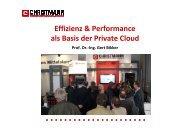 Effizienz & Performance als Basis der Private Cloud - KuK ...