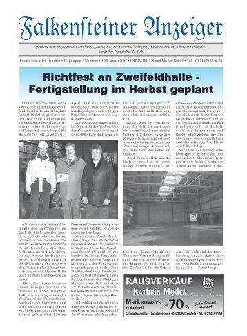 NEU 2007 - Stadt Falkenstein im Vogtland