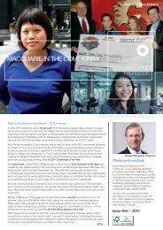 Macquarie in the Community March 2012 - Australia / New