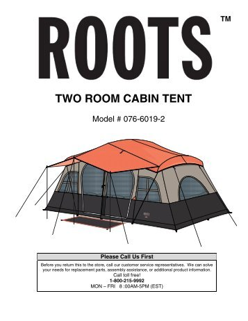 TWO ROOM CABIN TENT - rootsoutdoor.ca  sc 1 st  Yumpu & WMT-1410 3 Room Cottage Cabin 14 ft - Find Ozark Trail Tents