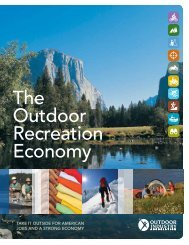 The Outdoor recreation economy - Outdoor Industry Association
