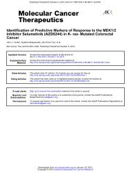 Identification of Predictive Markers of Response - Molecular Cancer ...