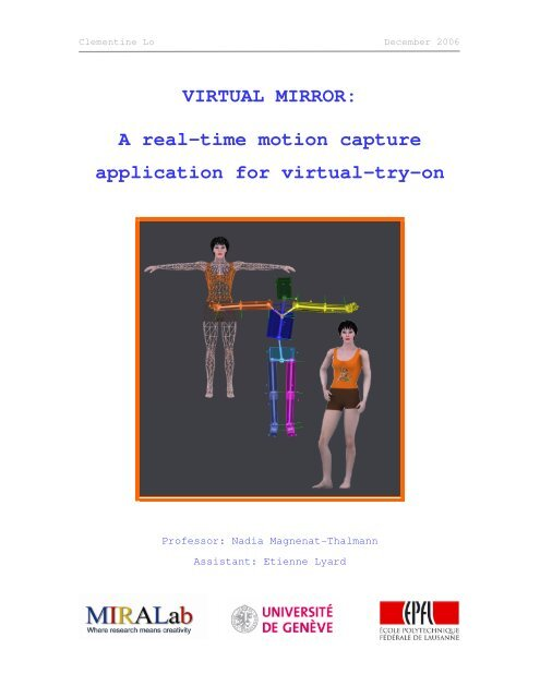 VIRTUAL MIRROR: A real-time motion capture     - clemilo ch