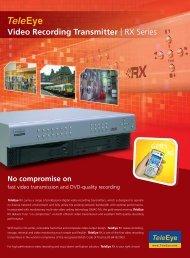 TeleEye RX3616 Digital video recorders (DVRs) - SourceSecurity.com