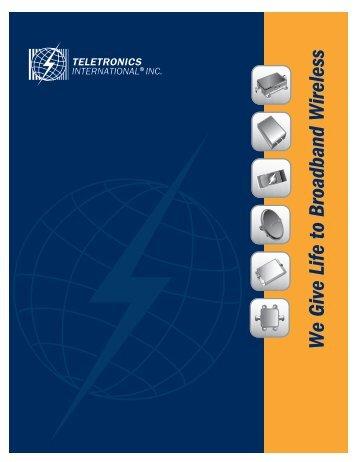 Teletronics Company Brochure - Streakwave
