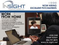 WORK FROM HOME - InSight Telepsychiatry