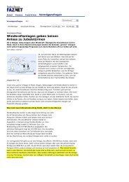 Windkraftanlagen geben keine Alass zu Jubelstürmen - BI-Knoten