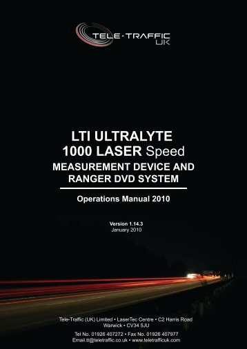LTI ULTRALYTE 1000 LASER Speed - Tele-Traffic