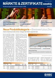 MÄRKTE & ZERTIFIKATEweekly - RBS