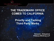Trademark Office Comes to California - Pillsbury Winthrop Shaw ...