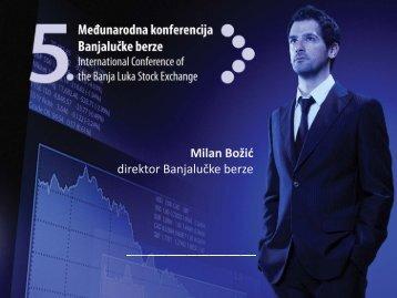 Milan Božić direktor Banjalučke berze direktor Banjalučke berze