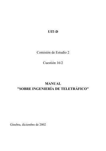 """manual """"sobre ingeniería de teletráfico"""" - Imaginar"""