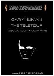 Gary Numan Teletour 80 UK Tour Programme - Dead-Heaven