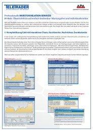 Produktbeschreibung APA-InvestorRelationsWeblösung