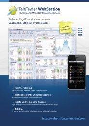 TeleTrader WebStation - Products - TeleTrader.com