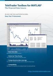 Download product brochure - Products - TeleTrader.com