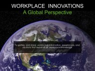 WORKPLACE INNOVATIONS A Global Perspective - Europlan