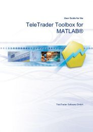 User Guide for the TeleTrader Toolbox for MATLAB® - Products ...
