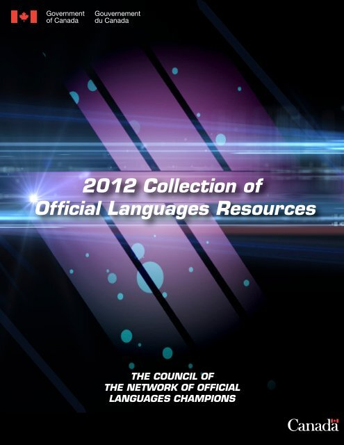 2012 Collection of Official Languages Resources - Osez! Dare!