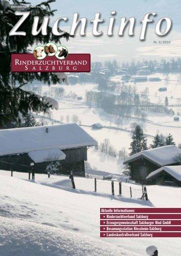 Zuchtinfo 2/2010 - Rinderzuchtverband Salzburg