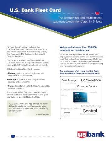 us bank fleet card overview - Fleet Card Service