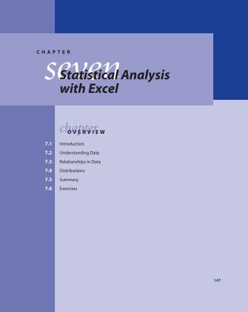 seven Statistical Analysis with Excel chapter - DSSBooks