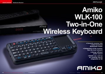 Amiko WLK-100 Two-in-One Wireless Keyboard - TELE-satellite ...