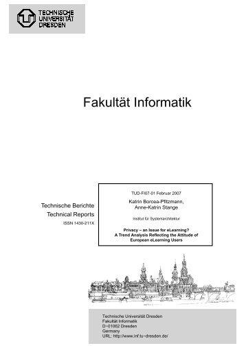Fakultät Informatik - Technische Universität Dresden