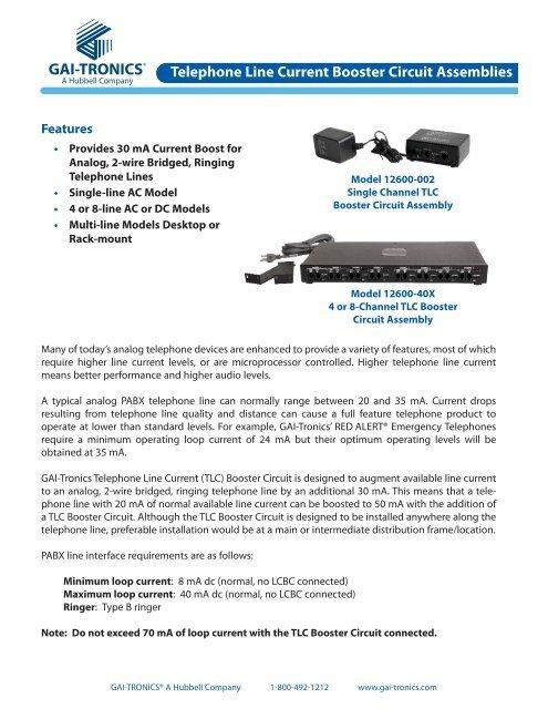 Telephone Line Current Booster Circuit Assemblies - GAI-Tronics