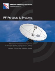 RF Products & Systems - Teletronics Technology Corporation