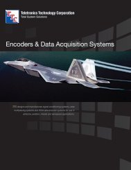 Encoders & Data Acquisition Systems - Teletronics Technology ...
