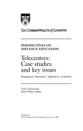 Telecentres: Case studies and key issues - Global Learning Portal