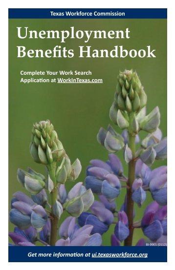 Unemployment Benefits Handbook - Texas Workforce Commission