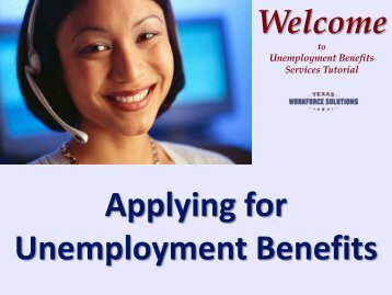 Applying for Unemployment Benefits Tutorial