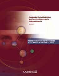 Telehealth: Clinical Guidelines and Technical Standards ... - ISFTeH