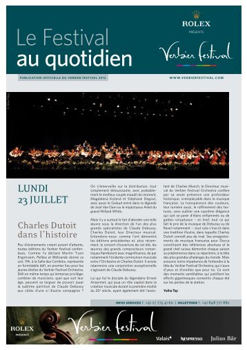 Live - Verbier Festival & Academy