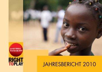 Jahresbericht 2010 Schweiz - Right to Play