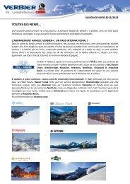 Projet hiver 2012/2013 - Verbier
