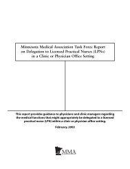Minnesota Medical Association Task Force Report on Delegation to ...