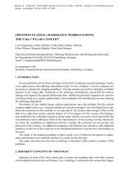 OPENNESS IN (TELE-) RADIOLOGY WORKSTATIONS: THE ... - DKFZ