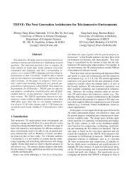 TEEVE: The Next Generation Architecture for Tele-immersive ...