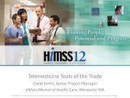 Define the basic requirements for your telemedicine program...