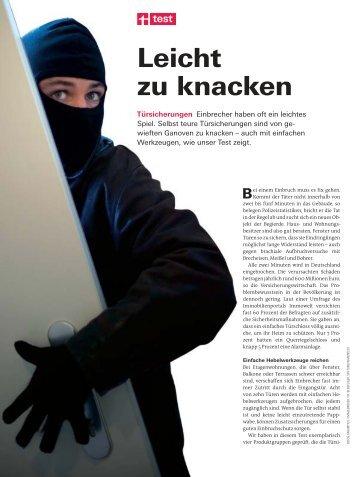 E-Buch - Stiftung Warentest - 2009-07 - Türsicherungen.pdf - Ohost.de