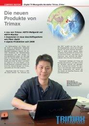 Die neuen Produkte von Trimax - TELE-satellite International ...