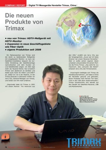 Die neuen Produkte von Trimax - TELE-satellite International ...