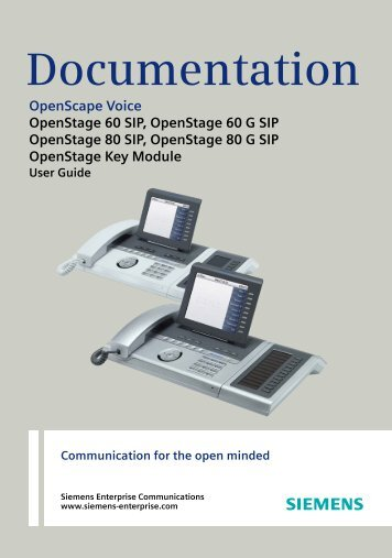 OpenStage 60/80 - Siemens Enterprise Communications
