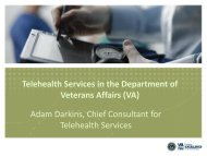 Telehealth Services in the Department of Veterans Affairs (VA ...