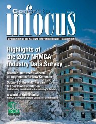 Highlights of the 2007 NRMCA Industry Data Survey