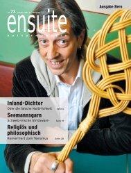 Kulturwoche Das neue Online-Magazin und die Newsletter ... - Ensuite
